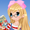 Anime bookworm girl dress up game
