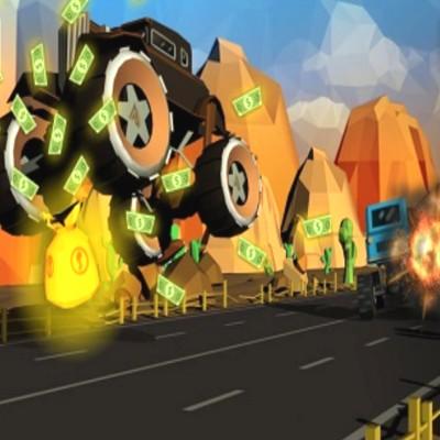 Furious Road Game Low Loly Car Racing