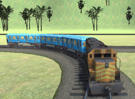 Super Drive Fast Metro Train